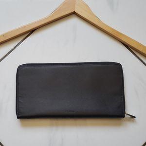 Fossil 💜 Leather Clutch Wallet Zip Around Case